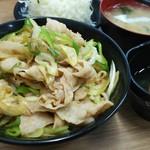伝説のすた丼屋 - ミニ生姜丼。