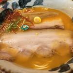 ラーメン考房 昭和呈 - ↑究極海老花麺《醤油》