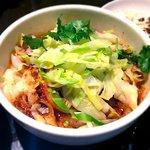 XI'AN - ニンニク風味のユーポー麺¥820 2017.3.10