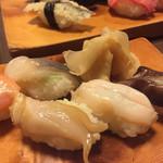 新中野まとい寿司 - 青柳以外の貝類5品、これも私用(^-^)
