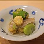 鮨処 つく田 - 野菜のおひたし