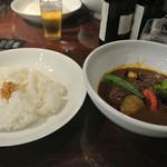 咖喱&カレーパン 天馬 - ビーフカレー1