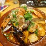66661674 - 天然鯛と赤海老・ホタテ貝柱いろんな野菜のモロッコ式スパイス煮込み~タジン~