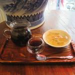三徳堂 - 熟プーアル茶と台湾愛玉子ゼリーのセット