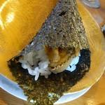 グルメ回転寿司 函太郎 - 天然岩海苔使用 うに手巻き700円(税抜)