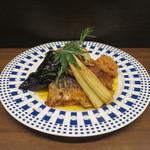 零 - 真鯛の桑焼き 自家製トマトソースと共に