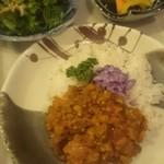 ブールバール - フルーツ野菜のドライカレーセット