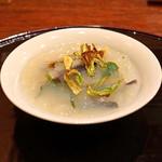 麻布 幸村 - ウルイ、薇、蕗の薹 等の春野菜 蛤の出汁のジュレで