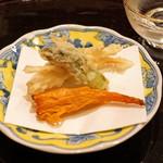麻布 幸村 - 天ぷら 白魚、タラの芽、バチコ