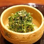 麻布 幸村 - 人参菜〈ニンジンナ〉の胡麻和え