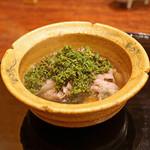 麻布 幸村 - 料理写真:花山椒と牛肉のシャブシャブ