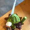 Giontsujiri - 料理写真:つじりツリーソフト 抹茶 670円