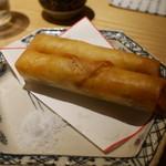 botan - 白魚とふきのとう春巻き800円。