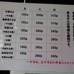 麺屋 にぼすけ - 麺の量の説明