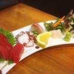 寿司 ゆずの花 - さしみ5点盛
