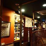 島の居酒屋むちゃかな - 店内♪堀り炬燵式の座席
