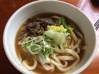 天下GO!麺 - 肉うどん(馬肉)