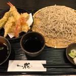 一成 - 初夏の天ぷら付き せいろ蕎麦