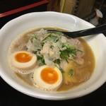 66685740 - 鶏×魚(ダブル)ラーメン味玉付