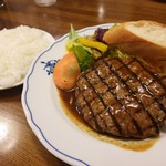 洋食屋 - 網焼きビーフハンバーグ