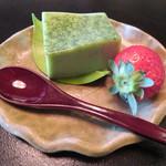 欅苑 - 抹茶ムース、水菓子