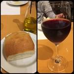 ルーチェ - パンとオリーブオイル&ワイン       *パンがフカフカで美味しかった!