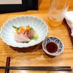 四季膳 ほしや - 特選ひるげご膳3,780円②カンパチ、カマス、イシダイの刺身