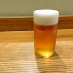 四季膳 ほしや - ランチビール中生750円