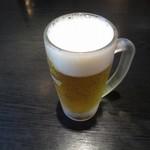 かつ膳 - 生ビール¥600