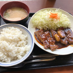 なにわ豚テキ - 豚テキ定食750円(税込)