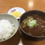 八幡平山頂レストハウス - 八幡平源太カレーうどん(850円)