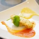 66696166 - ランチ menu B (¥3,600) 産地直送 鮮魚のプレート おすすめの調理法で