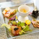 66696182 - ランチ menu B (¥3,600) 旬の彩り野菜 いろいろ盛り合わせ