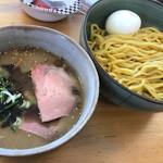 麺 風来堂 - 味噌つけ麺 味玉+大盛(800+100+100円)