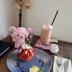タミチカ - 料理写真:いちごのタルトとアイスチャイ