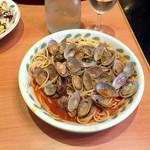 サイゼリヤ - スープ入りトマト味ボンゴレ¥499
