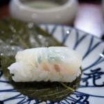 瓢亭 - 鯛の笹巻寿司中身