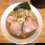 ふる川 - 豚骨魚介(並盛)+焼豚