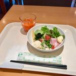 cafe rest montrose - 朝食バイキング(宿泊客\800) サラダ盛り付け例