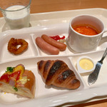 cafe rest montrose - 朝食バイキング(宿泊客\800) 洋食盛り付け例