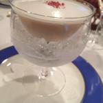 レストラン山崎 - 料理写真:木村秋則さんの自然栽培りんごの冷製スープ