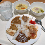 cafe rest montrose - 朝食バイキング(宿泊客\800) カレー・ハヤシ盛り付け例
