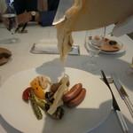 箱根ハイランドホテル ラ・フォーレ - チーズを掛けます!