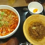 66709755 - マーラー刀削麺セット960円