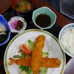 しおさい - ジャンボ海老フライ定食〈\1300税抜き)