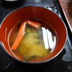 しおさい - いくら丼の蟹汁