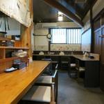 自家製麺 佐藤 - 店内の様子。