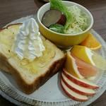 66711744 - レモンハニートースト(別角度)