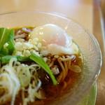 ことぶき寿司 - 温玉蕎麦