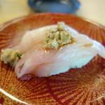ことぶき寿司 - カワハギ肝添え